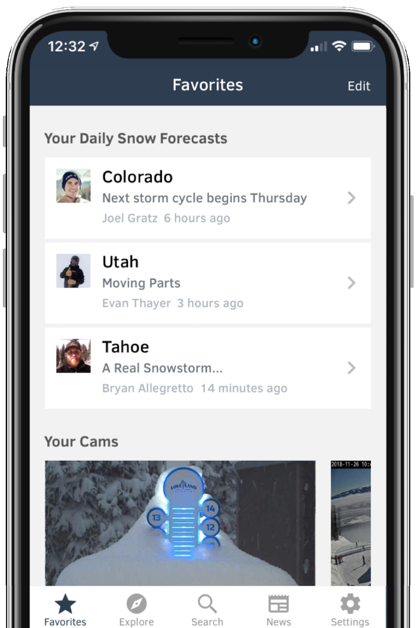 OpenSnow on iOS